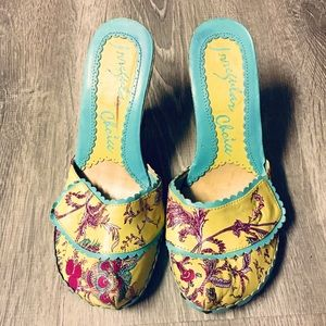 Irregular Choice Floral Wedges Size 38 US 7